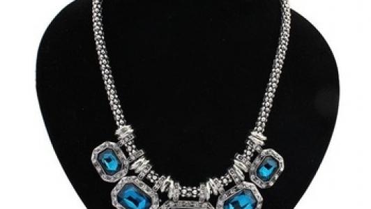 European & American Metal STYLE Luxury Gem Choker Necklace